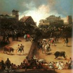 Francisco de Goya (1746-1828)  The Bullfight  Oil on canvas  Metropolitan Museum of Art, Manhattan, New York, USA